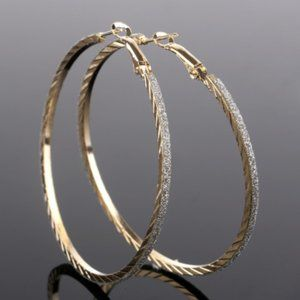 Gold & Silver Sparkle Hoop Earrings